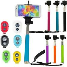 1 SELFIE STICK MONOPOD BLUETOTH CAMERA SHUTTER REMOTE FOR MOBILE  iPHONE SAMSUNG