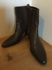 BURDALE brown leather ladies  boots shoes heels size 5UK