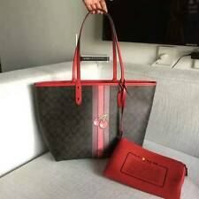 NEW Coach Signature Cherry Pac Man Reversible Tote F57278