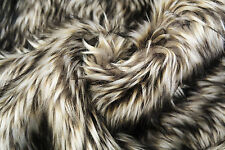 D232 DELUXE GREY CHINCHILLA FAUX FUR STUNNING REALISTIC QUALITY MADE IN ITALY
