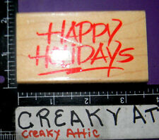 HAPPY HOLIDAYS RUBBER STAMP HERO ARTS F125