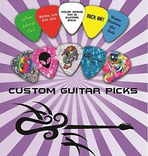 100 Custom Personalized Guitar Picks ~ Plectrums Print one side