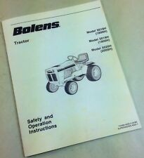 BOLENS MOWER GARDEN TRACTOR 5018H 5019H 5020H SAFETY OPERATORS OWNERS MANUAL