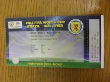 11/09/2012 Ticket: Scotland v Macedonia [At Hampden Park] (folded). Thanks for v