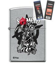 Zippo 7549 Sons of Anarchy SAMCRO Lighter with *FLINT & WICK GIFT SET*
