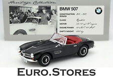 Norev BMW 507 Roadster Year 1956 Black 1:18 Model Car High Quality Genuine New