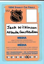 1994 Stanley Cup Media/Press Pass Badge New York Rangers/Vancouver Canucks