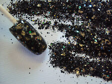 glitter mix nail art acrylic gel   BLACK SKIES RUSH