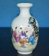 EXQUISITE ANTIQUE CHINESE FAMILLE ROSE PORCELAIN VASE MARKED YONGZHENG R9673