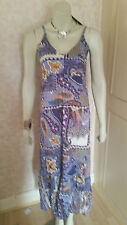 HEINE PURPLE BOHO  MIX COTTON MAXI DRESS SZE 10 RRP £45 BNWT