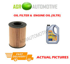 DIESEL OIL FILTER + LL 5W30 ENGINE OIL FOR VOLKSWAGEN TOURAN 2.0 177BHP 2013-