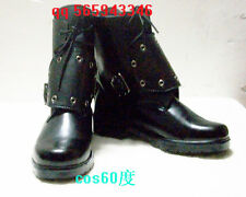 Final Fantasy VII Cloud Strife Black Shoes Cosplay Boots S008
