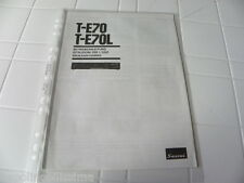 Sansui T-E70 & T-E70L Owner's Manual  Operating Instructions Istruzioni New