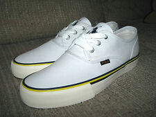 "Men's $60 POLO-RALPH LAUREN White Canvas Sneakers/ Shoes (10) ""MORRAY"""