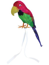 Stuffed Feather Parrot On Shoulder Pirate Hawaiian Fancy Dress Captain Accessory