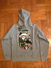 Bape x Dragon Ball Gray Pullover Hoodie Size Medium - IN HAND 100% Authentic