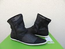 SANUK KAT NESS LIMITED BLACK LEATHER CHIC SLOUCH ANKLE BOOTS, US 9/ EUR 40 ~NIB