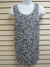 DIVIDED by H&M Mens Black on Grey Square Print Tank - Size LARGE - New