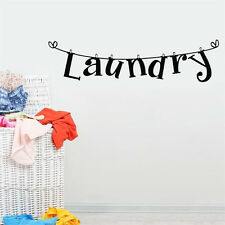 "1Pc Removable Letter ""Laundry"" Shape Room Art Mural Wall Stickers Home Decor"