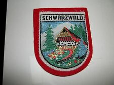 VINTAGE SCHWARZWALD MOUNTAIN EMBROIDERED PATCH REALLY COOL L@@K NEVER USED