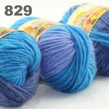 LOT of 3x50gr Skeins NEW Chunky Hand-woven Colors Knitting Scores wool yarn 829