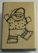 Jeremy Boy Rubber Stamp Hooks Line Inkers Kids Hat Shoes K42 HTF 1992 Arms Out