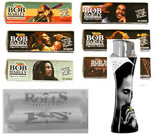 Bob Marley Rolling Papers 10 King Size Hemp 110mm + Zen Roller Machine + Lighter