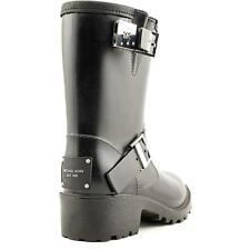 Michael Kors Devenport  Women US 8 Black Rain Boot Pre Owned Blemish  1722