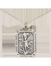 No-Shine (NS-800) Saint Michael Necklace (Pewter)