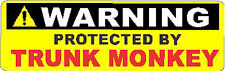 Protected By Trunk Monkey Hard Hat Sticker S-147