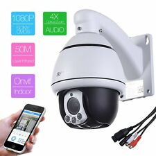 4X Zoom HD 1080P 2.0MP indoor PTZ IP Speed Dome security Camera IR two way Audio