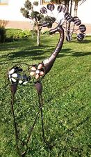 Hirsch Reh Metall Gartendekoration Gartendeko Skulptur Landhaus Shabby chic Groß