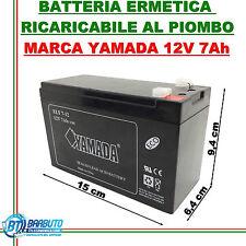 BATTERIA RICARICABILE ERMETICA AL PIOMBO 12V - 7Ah MARCA YAMADA ANTIFURTO UPS
