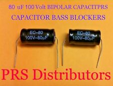 80 uF 100 Volt BIPOLAR CAPACITOR BASS BLOCKER SPEAKER TWEETER CROSSOVER 1 Pair