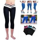 Women Gym Pants Sport Yoga Athletic Workout Fitness Seamless Capri Leggings