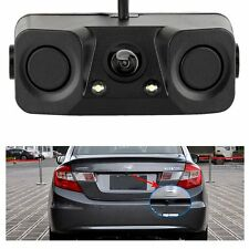 3 IN 1 Video Parking Sensor Car Reverse Backup Rear View Camera Detector Sensors