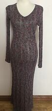 ARMAND BASI EMBROIDERED CROCHET MAXI BOHO MULTI COLOURED DRESS SIZE SMALL C172