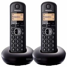 Panasonic Twin DECT Home Cordless Phone, LCD Amber Backlit Display - KX-TGB212EB