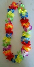 LED Light Up Flashing LEI Hawaiian Necklace Rave Party Blinking Floral Flower