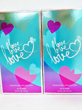 Bath Body Works LOVE LOVE LOVE EDT, 2.5 oz., NEW X 2