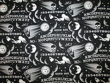 ASTROLOGY TAROT PALM OUIJA BOARD MAGIC 8 BALL OCCULT COTTON FABRIC FQ