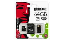 Kingston 64GB microsdxc uhs-i classe 10 carte 30MB/s + adaptateur sd + lecteur usb