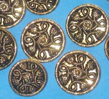 MIRROR BACK Twinkle Set 9 Vintage New Metal FLOWER buttons SIZES