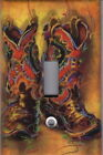 WESTERN COWBOY BOOTS - COWBOY BOOTS HOME DECOR SINGLE LIGHT SWITCH PLATE COVER