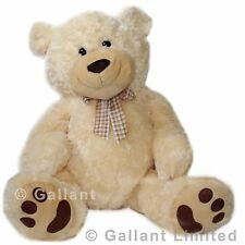 EXTRA LARGE BRAND NEW GIANT 80CM (100CM) SOFT JUMBO POLAR BIG GALLANT TEDDY BEAR