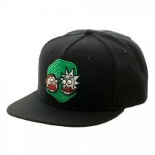 Officially Licensed Rick and Morty Black Snapback Cap Hat Adult Swim