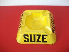 Cendrier publicitaire SUZE verre peint carré 11cm bistrot vintage
