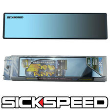 BLACK/BLUE PANORAMA HD CLIP ON CONVEX GLASS REAR VIEW MIRROR 280MM WIDE A