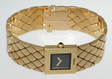AUTHENTIC CHANEL MATELASSE 18K YELLOW GOLD WATCH