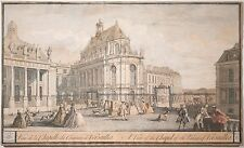 """Jacques Rigaud Antique Engraving """"The Chapel of the Palace of Versailles"""" 1730!"""